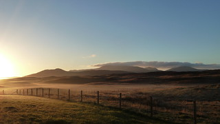 Morning view of South Uist hills