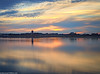 Wigg Island (2 of 1) (andyyoung37) Tags: uk sunset england reflections cheshire unitedkingdom gb stmaryschurch runcorn rivermersey runcornbridge