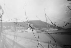 Klaksvik Harbour (nils_aksnes) Tags: wood blackandwhite bw islands felt pinhole homemade faroeislands faroe stoneware faroes theclippertonproject