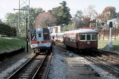 SEPTA Norristown Line (P&W) Nov89 (jsmatlak) Tags: philadelphiawestern septa norristown line brill bullet strafford electric railway interurban trolley tram