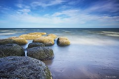 Enlightened (Ali Ly) Tags: longexposure sea sky art beach water clouds nikon rocks day outdoor hunstanton d810 sigma24mm leebigstopper