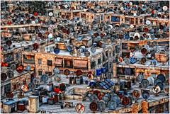 Alep. Sur les toits...autrefois. (leonhucorne) Tags: asie alep syrie toits paraboles flickrtravelaward