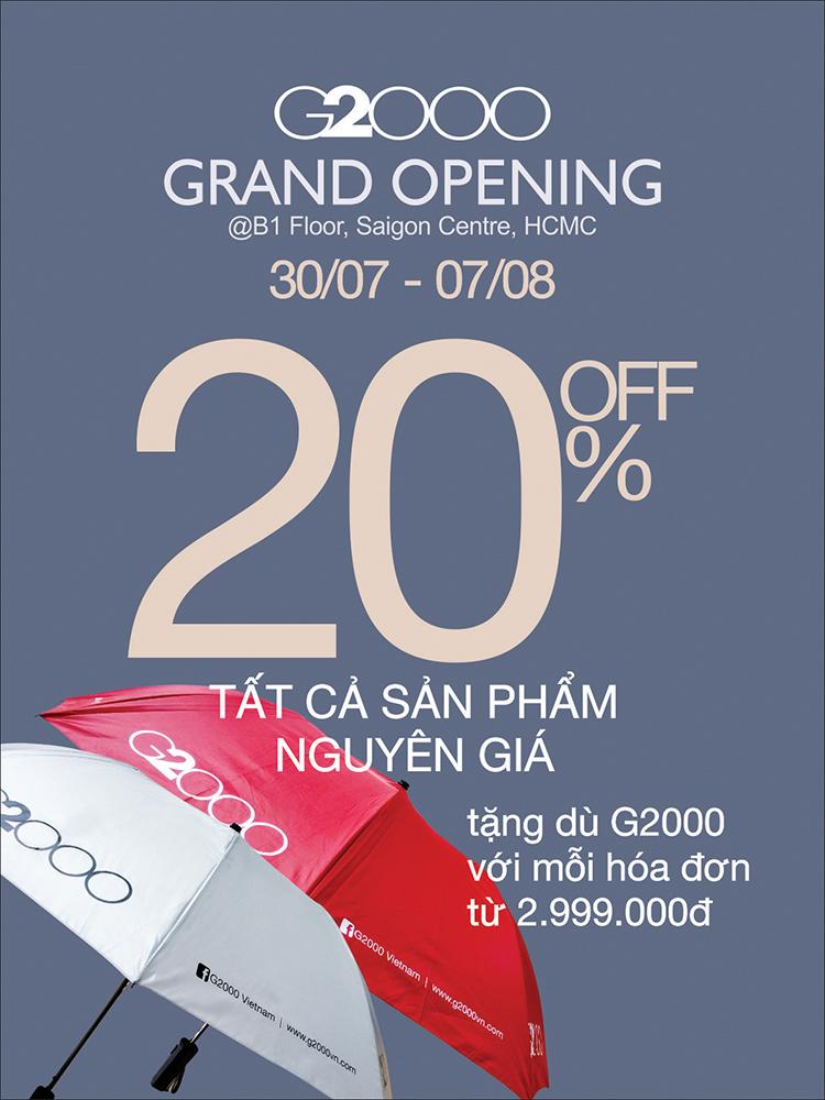 G2000 - Khai trương Cửa hàng mới tại Saigon Centre, Q1, TPHCM