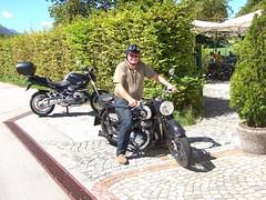DKW NZ 250 - 1939 (John Steam) Tags: oldtimer vintage motorrad motorcycle motorbike dkw nz250 nz 250 1939 salzburg austria zweitakt bmw r1200r 2011 classic gastgarten