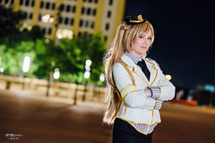 Minami Kotori () (btsephoto) Tags: cosplay costume play  project akon anime convention dallas texas hilton anatole portrait fuji fujifilm xt1 yongnuo yn560 iii flash officer police minami kotori  love live  fujinon xf 56mm f12 r lens