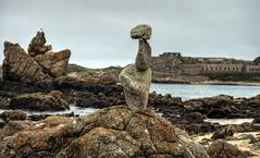 Rock Balancing , Corblets, Alderney (neilalderney123) Tags: 2016neilhoward alderney zen rockstacking rockbalancing corblets fort landscape