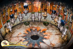 Christmas Eve in Jerusalem and midnight mass in Bethlehem (mantistours) Tags: bethlehem star christ birth cave grotto religion christianity christmas church palestine icons candles flames rays 14 nobody