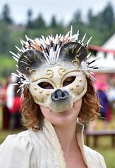 Porcupine mask (RichSeattle) Tags: richseattle nikon d750 enumclaw seattle washington washingtonstate renaissance renaissancefair midsummer costume mask woman portrait porcupine nose