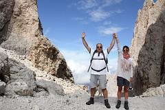 Ose & Giorgio, Sassolungo. Dolomiti (Giorgio Pongiluppi) Tags: montagna alpi dolomiti alps sassolungo