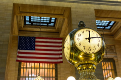 Grand Central Terminal (PMillera4) Tags: grandcentralterminal newyork newyorkcity manhattan americanflag usflag clock