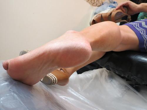 Asian mature feet
