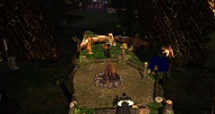 Avilion Heart (Osiris LeShelle) Tags: secondlife second life avilion heart medieval fantasy roleplay drumcircle drum circle dancing drumming gathering people community fun