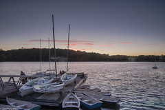 Sunset Over Jamaica Pond (allentimothy1947) Tags: boston jamaica plain ma kettle pond sunset boats dock water emerald neckless