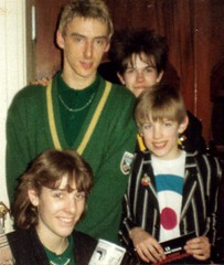 Kate, Jo and Matt with Paul Weller (Diego Sideburns) Tags: paulweller redwedge demontforthall leicester