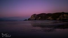 Wharariki Beach (Maikel van Schaik) Tags: wharariki beach sunset new zealand travel reflection nieuw zeeland nikon d600 reflectie strand nikon2428 mountains water lowtide sand
