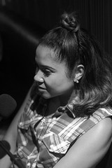 Angela Yee has some good Triceps tho (BW) (Brotha Kristufar) Tags: engine room studio recording radio podcast talk discussion entertainment friends love sex music hiphop culture angela yee premium pete miss lissa knows media industry nyc brooklyn portrait portraiture photographjy 50mm black white monochrome monochromatic sneakers indoor indoors people fame famous personalities air feature featured loud speakers network networking explore explored iheart syndication jayz relationships advice major key dj khaled disc jockey