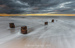 Left Behind (Steven Peachey) Tags: seascape sea beach backwash canon sky clouds light exposure hartlepool coast posts manual fullframe wideangle canon6d ef1740mmf4l leefilters lee09gnd lee06gnd northeastcoast uk england northeastengland stevenpeachey lightroom5