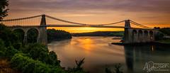 Sunset under the Bridge (andrewjd44) Tags: 10stop color menaistraights water reflections menaibridge clouds longexposure colorful warm anglesey exposure wales bridge sunset northwales cymru