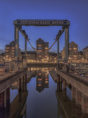 It's time to go home (Wizard CG) Tags: portishead marina uk england bristol boats flats leisure hdr blue hour long exposure britain europe north somerset united kingdom boat reflection water waterfront outdoor city architecture skyline