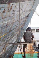 Hull maintenance (Hans Makkee) Tags: jakarta oldharbour java indonesia