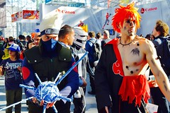 DSC_0175 (Randsom) Tags: nycc 2016 newyorkcomiccon nycomiccon javitscenter october nyc newyorkcity cosplay costume fun comicbooks comicconvention anime kakashi mask canon colorful barechest white hair