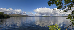Loch Lomond Panorama (Kev Gregory (General)) Tags: panorama loch lomond scottish highlands canon 7d kev gregory scotland tour water lake still reflection sky skyline clouds blue weather scenery scenic holiday