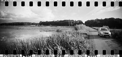 2016-08 - 069SR - DSC_9990 (sarajoelsson) Tags: sprocketrocket blackandwhite bw panorama panoramic sprocketholes digitizedwithdslr toycamera ilford sweden 135 35mm 2016 hp5 monochrome plasticlens everydaylife filmphotography filmisnotdead believeinfilm filmshooter film wideangle biskopsarn hc110 lomography lomo summer august
