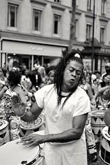 Drums (__sam) Tags: brazilian tradition catholic man dancing drums drumming musician music street hairs monochrome blackandwhite paris france