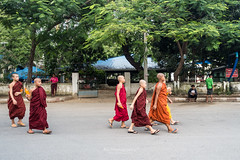 Monks. (bgfotologue) Tags: 2016 500px a7 bgphoto buddha burma image imaging kuthodaw landscape mandalay mandalayhill mindon monk myanmar outdoor pagoda paya photo photography sandamani sony summer temple travel tumblr bellphoto
