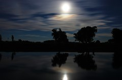 Moonlight over the river (M a u r i c e) Tags: moon moonlight river water trees night longexposure reflections efs1022mm wideangle