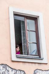 Pertisau July 2014 (Roger Hanuk) Tags: groupofpeople austria child children girl girls schwarz window young schwaz tyrol