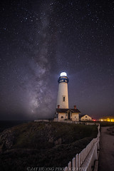 Pigeon Point Milky Way (Jaykhuang) Tags: pigeonpointlighthouse sanmateocounty fence nightphotography milkyway lights lighthouse jayhuangphotography stars