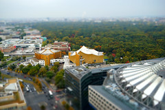 Autumn in Berlin (*Capture the Moment*) Tags: 2015 berlin panorama panoramablick philharmonie philharmony sonycenter tiltshift toy