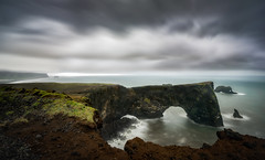 Storm on the Cliff (explored) (hpd-fotografy) Tags: arctic dyrhã³laeyjarviti flowing goldencircle iceland nordic sandinavia scenic atmosphere clouds dramatic mood nature outdoors sea seascape sky travel water ~themagicofcolours~xv
