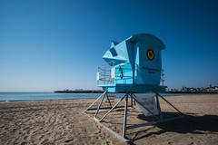 No one to save (ptoddy26) Tags: santa cruz beach sea lifeguard tower california