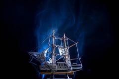 (Giorgini Luca) Tags: smoke fumo black lightbox still life boat barca nave cold colore freddo
