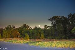 Erie-1-5 (kaustavmukherjee) Tags: moonrise moon sunset colors erie pennsylvania lake presque isle landscape nature serene lonely light darkness calm sky heaven fall trees beach