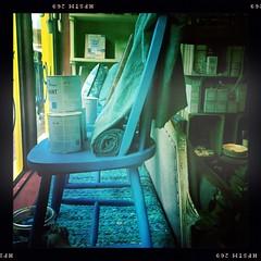 Window Display (breakbeat) Tags: hipstamatic oxford instameet instagrammeetup photowalk city hipstamaticapp anniesloan shop cowleyroad painteverything colourful interiordesign johnslens pistilfilm window windowdisplay chair decorate colour paint