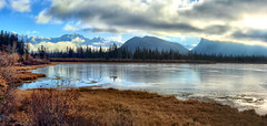 Vermillion Lake, Banff National park, Alberta, Canada - ICE(5)1090-1093 (photos by Bob V) Tags: rockymountains canadianrockies panorama mountainpanorama banff banffpark banffnationalpark banffalbertacanada reflection reflectiononwater tranquil tranquility vermillionlake vermillionlakes