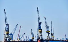 Hamburg Blaue Krane Farbe (rainerneumann831) Tags: ha burg hafen krne blau industrie linien