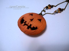 Trick or Treat (LynzCraftz) Tags: polymerclay resin pendant jewelry necklace oneofakind handmade
