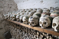 Hallstatt Ossuary (Raymondx1) Tags: austria sterreich upperaustria obersterreich hallstatt saltzkammergut travel holiday vacation charnelhouse karner beinhaus ossuary cemetery bones skulls