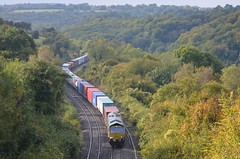 Freightliner 66560, Sapperton (NMBS 5111) Tags: ukrailways trains diesel freightliner class66 66560 containertrain wentloogsouthampton sapperton engelsetreinentrainsanglaisbritischezuege goldenvalley
