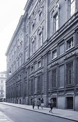 Torino Italia Palacio Carignano. Guarino Guarini, bw 3 (Juan Felipe Gmez T) Tags: torino italia palaciocarignano guarinoguarini olympusep1 zuiko17mm128 linuxmint linux showfoto