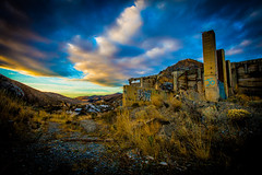 Jo. (yeahwotever) Tags: apocalypse graffiti abandoned bunker concrete disused early lime mess oregon silo states structure sunrise tag tower usa