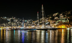 Hydra harbour at night (Yannis Raf) Tags: canon canoneos70d canoneos hydra night nightphotography nightlights nightshot longexposure ships sea harbour harbor light lighttrails colours efs18135isstm architecture water outdoor greece island