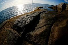 Sailing Boat (fxdx) Tags: sailing boat fisheye fish eye nex6 sea sky rock earth tenerife spain