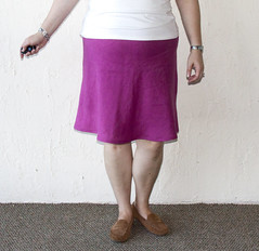 Re-Hemmed Spiegel Skirt (ShowAndTellMeg) Tags: refashion thrifted spiegel 90s linen skirt newhem
