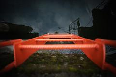Into the abyss (Helena Normark) Tags: ladder orangeladder stege trondheim srtrndelag norway norge sonyalpha7 a7 voigtlnder voigtlanderultron21mmf18 cv2118