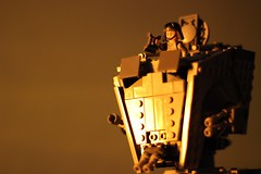 Keep a watchful eye over the desert. (kevinmboots77) Tags: lego legography starwars atst sandbox